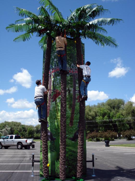 *** NEW ***  Coconut Tree Climber Rockwall