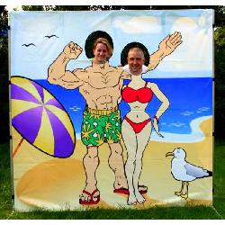 Beach Couple Photo Frame