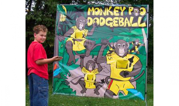 Monkey Poo Dodgeball Frame Game