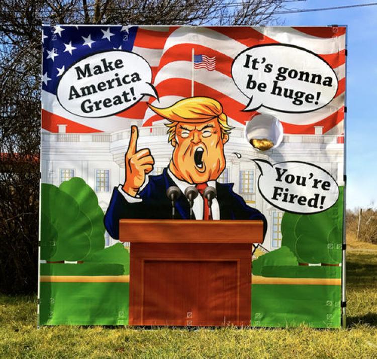 Trump Toss Frame Game