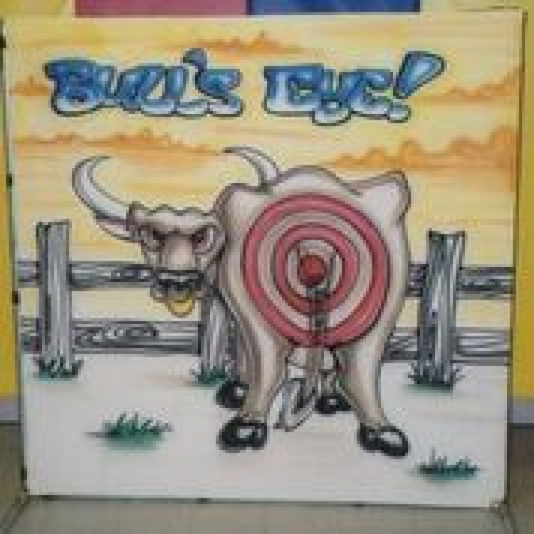 Pin the Tail On the Bullseye Frame Game