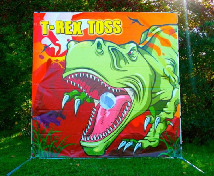 T-Rex Toss Frame Game